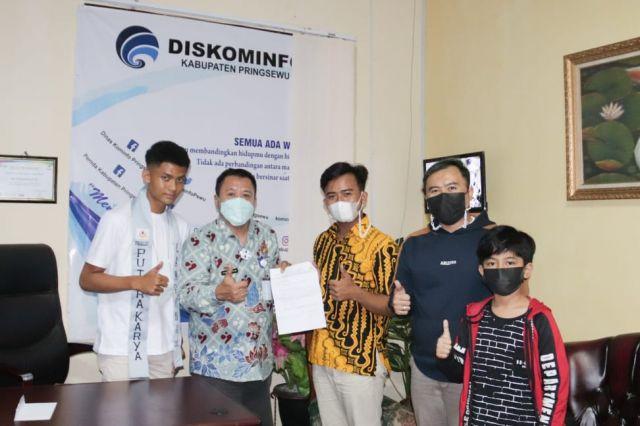Kunjungan Yayasan Model Academy Indonesia Provinsi Lampung ke Diskominfo Kabupaten Pringsewu